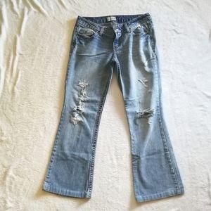 Aeropostale Distressed Flare Jeans